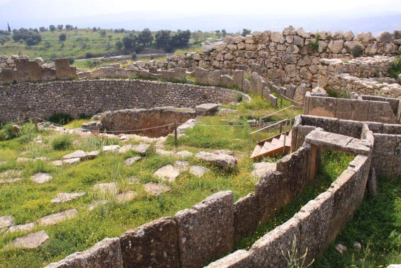 Acrópolis de Micenas, círculo de tumbas A