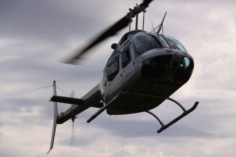 El helicóptero en el que volamos sobre las cascadas de Iguazú