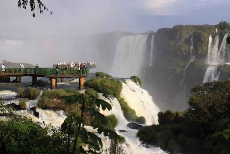 Uno de los miradores más espectaculares del lado brasileño