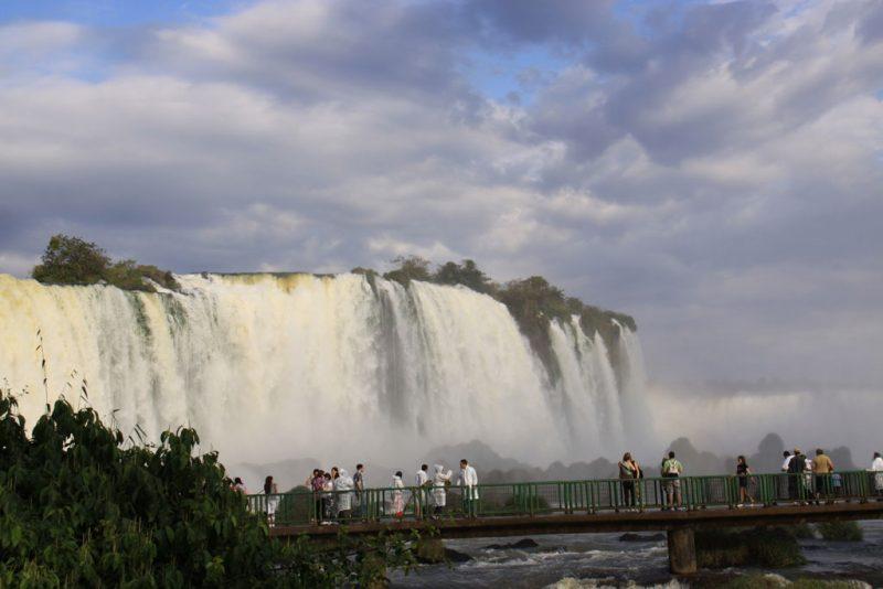 Pasarelas y miradores de las cascadas, en el lado brasileño