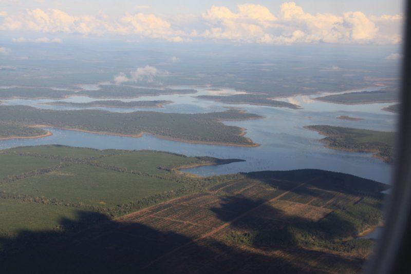 La selva de Iguazú, desde el avión de vuelta a Buenos Aires