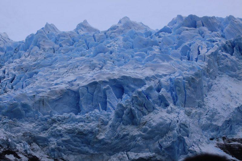 Caos de hielo en el frente del Glaciar Spegazzini