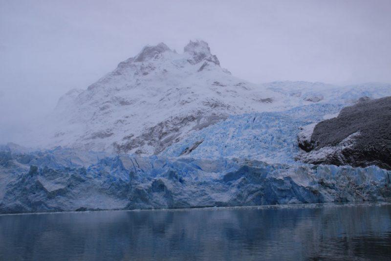 El descenso del hielo en el Glaciar Spegazzini