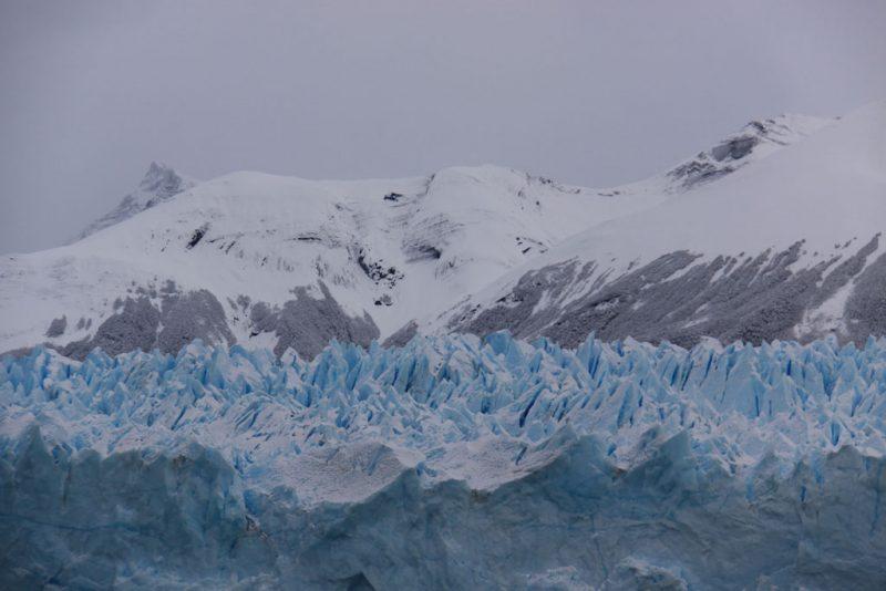 Seracs y grietas en el hielo del Glaciar Perito Moreno