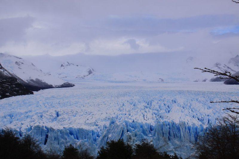 Vista general del frente del Glaciar Perito Moreno, desde las pasarelas de la Península Magallanes 1