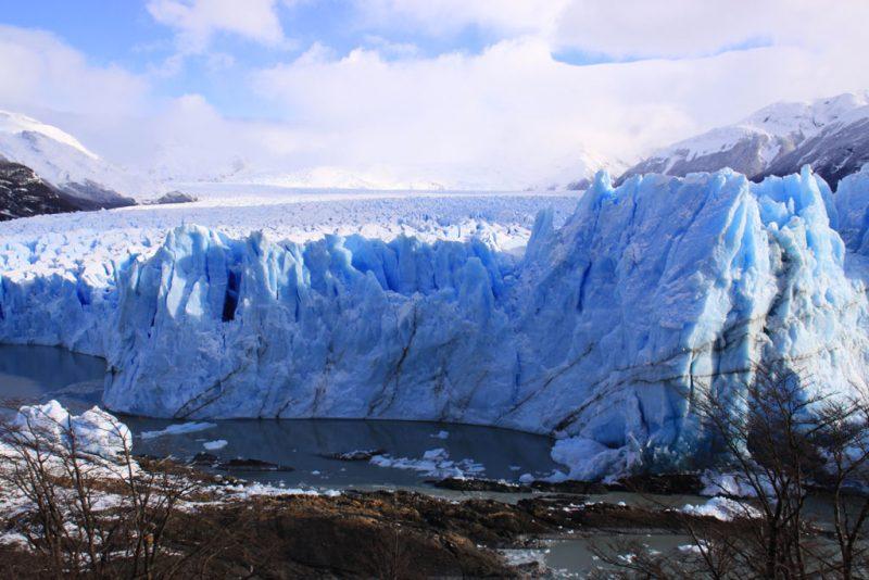 Punto de contacto entre el frente del Glaciar Perito Moreno y la Península Magallanes 2