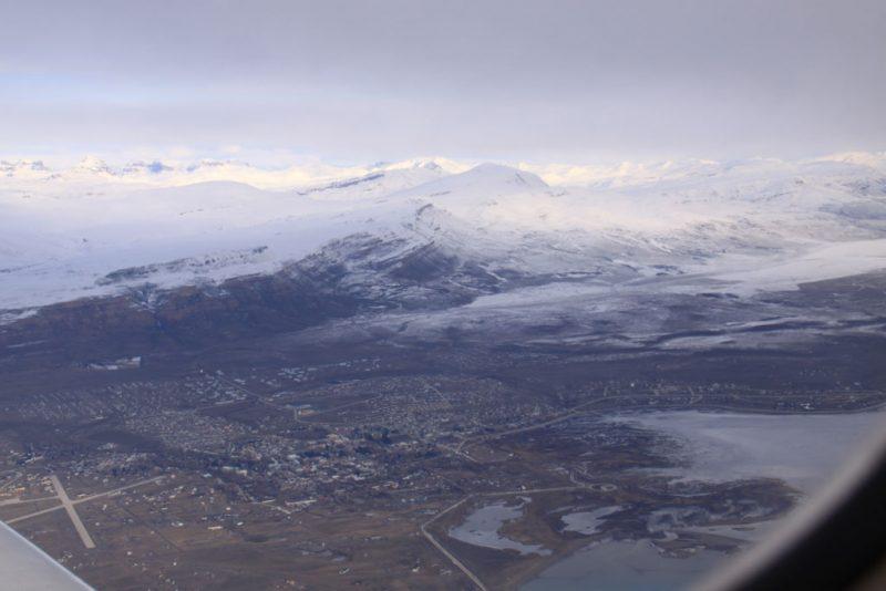 Vista de El Calafate desde el avión de vuelta a Buenos Aires
