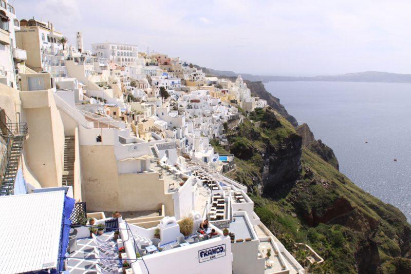 Vista general de Firá o Thirá, capital de Santorini