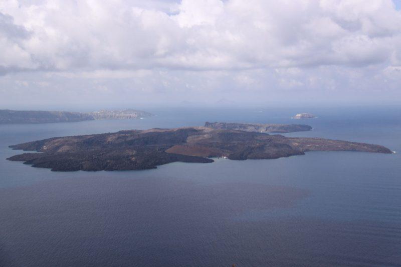 Isla de Néa Kaméni e islote de Palaiá Kaméni
